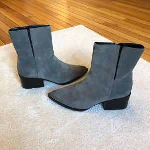 Grey Suede Pointy Toed Sam Edelman Circus Boots